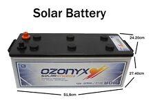 Batteria Solare 12v Monoblock Acido Piombo Aperto 250Ah Fotovoltaica Ozonyx