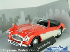 AUSTIN HEALEY CAR MODEL 1:43 SIZE RED/CREAM CARARAMA CONVERTIBLE ROADSTER T3