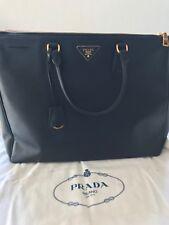 0541f49b8a Prada 1BA786 F0002 Large Saffiano Lux Women s Tote Bag Baltico Nero Black