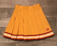 Cheerleader Danz Team Yellow Gold Red White Cheer Skirt Halloween Costume Sz 24