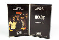 AC/DC: Back In Black & Highway To Hell Cassette Tapes - Lot of 2