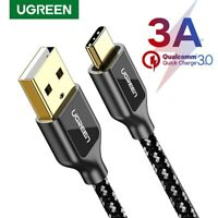 Ugreen Type C USB C Cable Nylon Braided Fast Charging Data Cable for Samsung S8