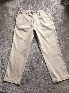 MARKS AND SPENCER MENS NATURAL TROUSERS SIZE 38 LENGTH 29