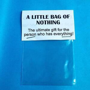 Novelty Gift Bag Of Nothing Funny Prank Birthday Gift Secret Santa