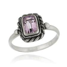 925 Silver Amethyst Ring Size 6