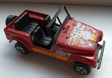 UNBOXED RED BURAGO JEEP C J 7 - MODEL NUMBER 4122 – EXCELLENT CONDITION
