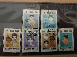 Hungary 1963  Red Cross Centenary. - 6 stamps used