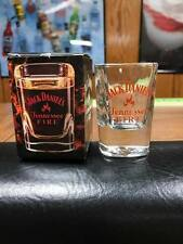 RARE JACK DANIELS FIRE SHOT GLASS IN BOX FROM THE UK -NO GREEN GOLD BELLE 150TH