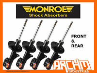 F&R MONROE GT GAS SHOCK ABSORBER FOR NISSAN X-TRAIL T30 ST 4WD WAGON 01-2/06