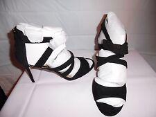 ann taylor women black thea bow sandal heels -M size 11