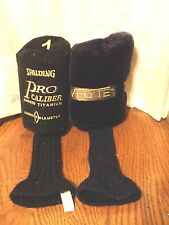 Golf Club Headcover Plush Lot of 2 The Rock Vflyte & Spalding Pro Caliber