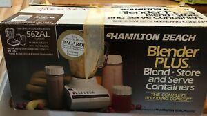 Hamilton Beach 562AL Almond,14 Speed Blender Plus, Retro Kitchen New Never Used