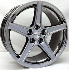 "18"" Black Chrome Mustang Saleen Style Wheels 18x9 18x10 Inch 5x114.3 Rims 94-04"