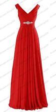 Long Chiffon Wedding Bridesmaid Dresses Formal Party Ball Prom Gown Dress 6-26