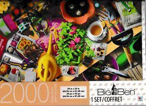 "Milton Bradley Big Ben 2000 pc Jigsaw Puzzle  Window on the Potting Shed 24"" x 3"