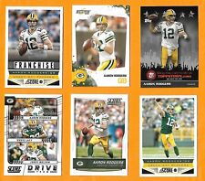 2009 - 2017 Topps & Score Aaron RODGERS 6 card lot MINT Green Bay Packers