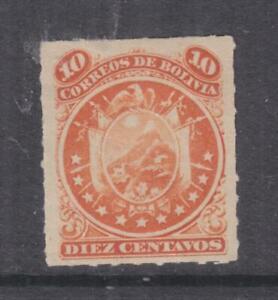 BOLIVIA, 1887 11 Stars, rouletted 10c. Orange, lhm.