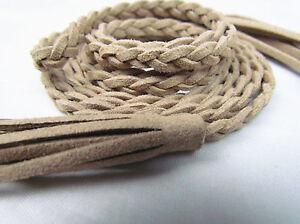Women Lady Girl Bohemian Boho Long Suede leather Tassel Waist Belt Band Tie