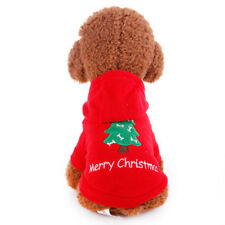 Christmas Red Pet Dog Clothes Hoodie Coat Jersey Sweater Cute Puppy Sport Shirt