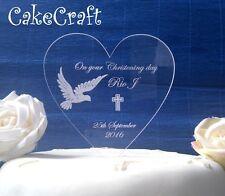 Battesimo Incisione Acrilico Personalizzato topper decorazioni per torta