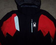 NWT Spyder $300 Black/Red AGENT Ski/Snowboard Parka Jacket Coat M 3M THINSULATE