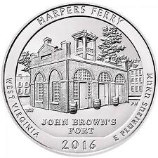 2016 America The Beautiful Harpers Ferry 5 oz Silver BU
