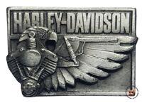 VINTAGE HARLEY DAVIDSON V-TWIN EAGLE VEST PIN * FREE USA SHIPPING * OBSOLETE