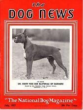 Vintage Dog News Magazine July 1937 Boxer Cover
