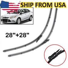 Front Windshield Wiper Blades Set Flat Wipers For Ford Focus MK3 2012-18 USA
