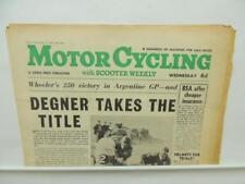 October 1962 MotorCycling Newspaper Suzuki 50 Sidecar Scooter Weekly BSA L11364