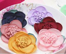 15pcs Fabric flower DIY trim crafts For chiffon flower Hair Accessories supplies
