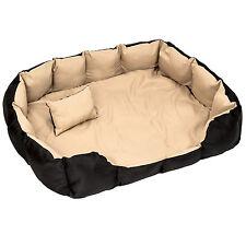 Lit douillet pour chiens panier corbeille couchage XXL noir/beige
