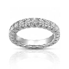 1.50 ct Round Cut Diamond Eternity Wedding Band Ring In Platinum