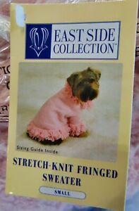 Stretch Knit Dog Sweater Fringe Soft Blossom Pink Small S NWT Coat Clothes