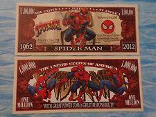 Amazing Adventure of SPRIDERMAN: Comic Hero ~ $1,000,000 One Million Dollar Bill