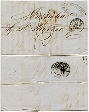 Italie 1855 chiffre taxe france manuscrit 10c padovani ovale
