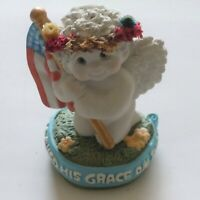 Figurine Cast Art Industries Dreamsicles America God Shed His Grace On Thee EUC