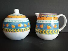 Ceramic Creamer & Sugar Bowl from Furio Home Portugal pear design