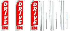 Drive In Swooper Flag With Complete Hybrid Pole set- 3 pack