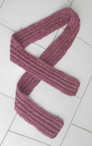 Écharpe rose avec fil d'argent longueur 180 cm