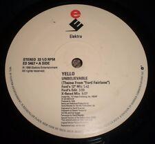 "Unbelievable Yello~PROMO~1990 House Techno 12"" Single~FAST SHIPPING!!!"