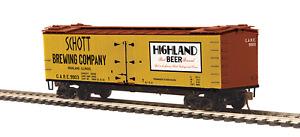HO MTH  R40-2 Wood Reefer Schott Brewing Company ROAD#9903    8094032