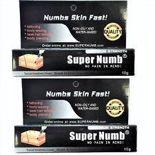 2 X 10g Super Numb skin numb numbing cream painless piercings waxing laser Dr