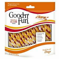 Good'N'Fun P-94188 Triple Flavor Twists Dog Chews, One Size  Assorted Sizes
