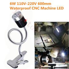 6W Working Light 220V CNC Lathe Machine LED Lamp Waterproof Flexible Base 600mm