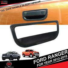 Carbon Kevlar Tailgate Handle Cover Trim FORD RANGER MK2 T6 WILDTRAK 2012-2016