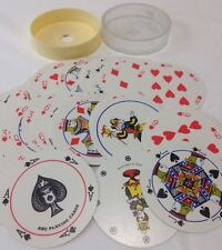 Vintage ROUND Abc Playing Cards Complete Deck 2 Jokers in Plastic Box Base