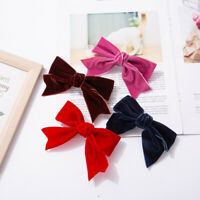 Women Velvet Bow Hairpin Clips Spring Clip Hair Rope Ponytail Hair Accessories