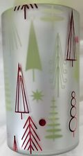 Yankee Candle Hurricane Glass Jar Holder: WINTER WONDERMENT Christmas Silver