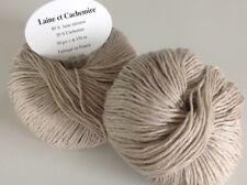 5 pelotes cachemire et laine couleur lin - FABRIQUE EN FRANCE